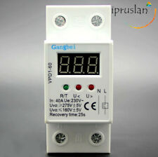 Under Over Voltage Protector LCD Relay 40A 230V 50Hz Automatic Recovery Device