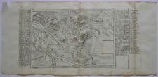Lyon France Grundrissplan Befestigungsanlagen Kupferstich Bodenehr 1720