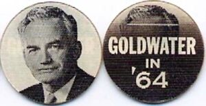 1964 BARRY GOLDWATER FLASHER DISC VARIVUE campaign pin pinback button political