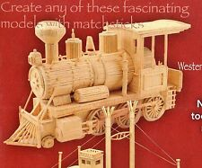 WESTERN LOCOMOTIVE MATCHSTICK MODEL TRAIN CRAFT KIT, BRAND NEW
