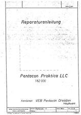 Pentacon Praktica LLC Reparaturanleitung und Stückliste Sachnummer 182006 (715)
