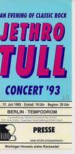 JETHRO TULL Used Free Ticket Berlin 12.07.1993