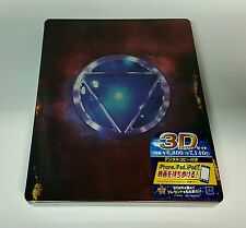 IRON MAN 3 [2D + 3D] Blu-ray STEELBOOK [JAPAN] EMBOSSED / BRAND NEW / MINT / OOP