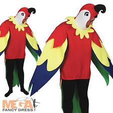 Polly the Parrot Adult Pirates Animal Bird Fancy Dress Hawaiian Mens Costume
