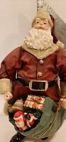 Santa Claus Table Top figurine Approx.11 inches tall with toy sack