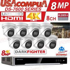 HIKVISION 4K SECURITY SYSTEM 4K-UHD  8CH 8 CAMERAS  8MEGAPIXEL DARKFIGHTER