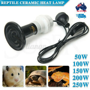 E27 Infrared Ceramic Heat Emitter Lamp & Holder for Reptile Pet Turtle Brooder