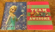 Lots Of 2 Disney Frozen & Shopkins 1 Subject Notebook ~NEW~  (Back To School)