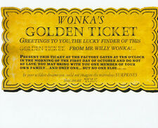 Golden Ticket UNSIGNED photo - G773 - Willy Wonka & the Chocolate Factory
