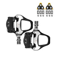 RockBros Road Bike Clipless Pedals with SPD-SL Cleats & SPD Flat Witch Cover