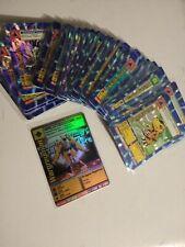 Digimon cards custom 50 qty with custom Wargreymon, Holos sleeved