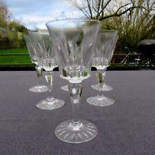 rare 6 verres à vin rouge en cristal de sèvres modèle Marigny  signé