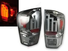 Set of Pair Chrome Smoke Lens LED Taillights for 2016-2018 Toyota Tacoma