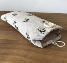 Handmade Glasses/Spectacle Case. Bees Fabric. New