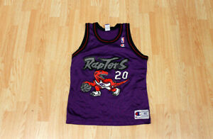 Vintage Damon Stoudamire Raptors NBA Champion Jersey 90s Size 40 GOOD CONDITION