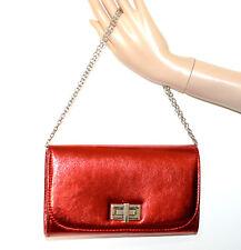 POCHETTE ROSSA donna borsa borsello da sera tracolla argento clutch bag G12