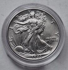 1943 AU LIBERTY WALKING HALF DOLLAR AMERICAN COIN BIRTHDAY SILVER GIFT IDEA PP
