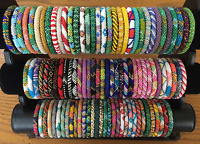 * USA 1 SET Nepal Rolls on Bead Glass Seed Bracelet crochet handmade bangle GIFT