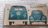 VW Kombi Splitscreen Service Booklet printed 1965 vintage collectible beetle