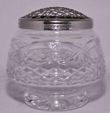 Large Vintage Thomas Webb Crystal Rose Bowl Windsor Pattern Clean EPNS Cover