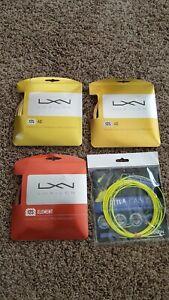 Tennis string 2 Luxilon 4G 16L and 1 Luxilon Element 16L