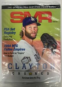 SMR January 2021 The Official PSA Certified Price Guide Clayton Kershaw Cover