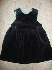 GAP Baby Girt Velvet Black Sleeveless Dress sz 2