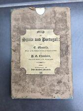 1808 Map Of Spain & Portugal On Linen John Stockdale