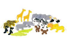 AFRIKANISCHE TIERE 20 Teile Afrika Tiere Wildtiere Holzspielzeug Holz Tierset