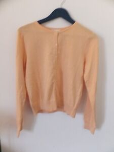 New H&M Woman Peach Button Up Cardigan Size M