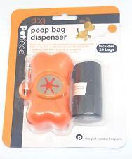 licence officielle chien excrément Caca Grand sac Snap Clip Distributeur Orange