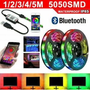 NEW RGB LED Strip Lights Music Sync Bluetooth APP Control USB WATERPROOF