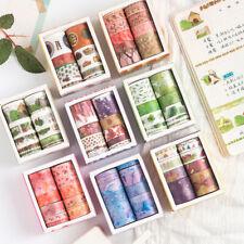 10Rolls/pack Cute Washi Tape Set Decor Scrapbooking Paper Adhesive Sticker Craft