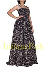 Women Plus Size Clothings XL to 3X Summer Party Maxi Long Boho Black Sun Dresses