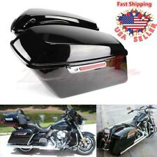 Home Collection Here Motorcycle 5 Stretched Extended Hard Saddlebags Trunk With Speaker Lid For Harley Electra Road Glide 93-13