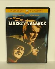 The Man Who Shot Liberty Valance DVD mint disc w INSERT John Wayne James Stewart