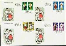 1987 Popular Costumes,Hat,Gates,Folk,Architecture,Volkstrachten,Romania,4398,FDC
