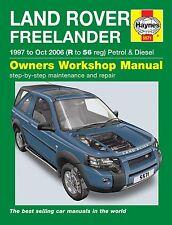 Land Rover Freelander 1.8 Petrol 2.0 Diesel 1997 - Oct 2006 Haynes Manual 5571