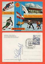Orig.Postkarte  Olympische Spiele INNSBRUCK 1976 -  mit Orig.Autogramm // B  !!