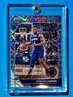 Zion Williamson SILVER LASER PRIZM ROOKIE NBA HOOPS PREMIUM STOCK RC - Mint!