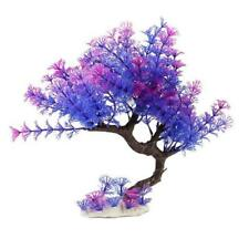 Purple Tree Plants Aquarium Fish Tank Water Grass Artificial Flower Decorations