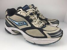 Saucony Omni 5 Women US 7 Gray White + Blue Athletic Trainers Running Shoes