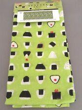 Tenugui Japanese Hand Towel Onigiri Green Cotton Lunch Box wrap Free Shipping