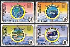 Tuvalu 166-169,MNH Amatuku Maritime Ecole Carte,Bateau à Moteur,Quai ,Flag