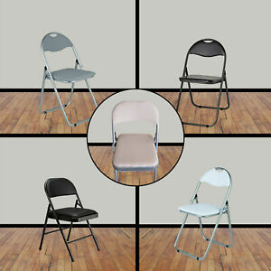FOLDING COMPACT BREAKFAST BAR STOOL FOLDABLE CHAIR SEAT PADDED HOME OFFICE HALL