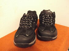 BRAND NEW MEN'S OZARK TRAIL BLACK HIKERS (shoes) witH LEATHER UPPERS