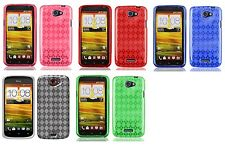 Soft TPU Crystal Skin Cover Phone Case for HTC One S Z520e Z560e / VILLE