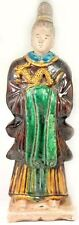 1600AD Antique Ming China X-Large Glazed Multi-Color Sancai Statuette w/ Dragon