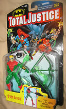 Green Arrow TOTAL JUSTICE w/Multi-Action MEGA LONGBOW   ---   MIB 1997