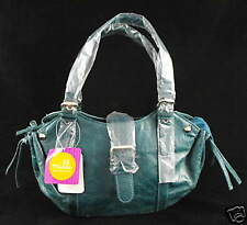 GIRLS HANDBAG FASHION NEW TEAL GREEN BLUE FAUX LEATHER SMALL MILLI CARRY BAG